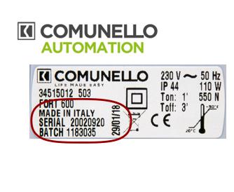 comunello rma D automation